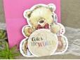 Invitatie de botez ursulet roz