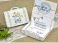 Invitatie de botez cutie bleu