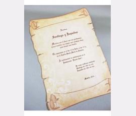 Invitatie papirus