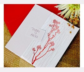 Invitatie motive florale