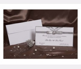 Promotie Invitatie eleganta cu accesoriu cod 30093