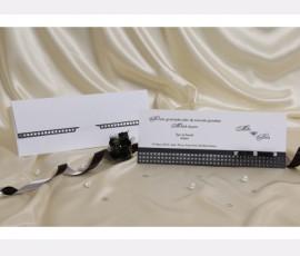 Promotie Invitatie alb-negru cod 30094