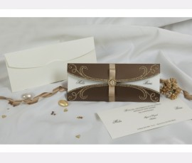 Invitatie eleganta cu accesoriu
