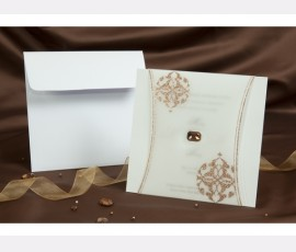 Promotie Invitatie eleganta cu accesoriu cod 301025