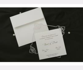 Promotie Invitatie de nunta eleganta cod 60266