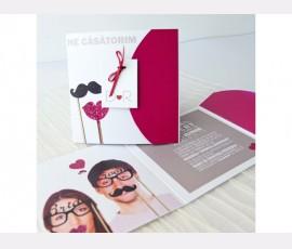 Invitatie comica Bride & Groom