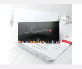 "Invitatie "" Boarding pass wedding """