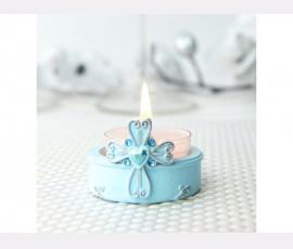 Suport lumânare bleu