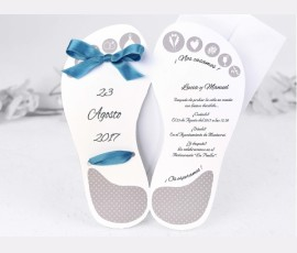 Invitatie de nunta papuc - Cod 39118