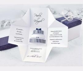 Invitatie cutie tort 3D - Cod 39107