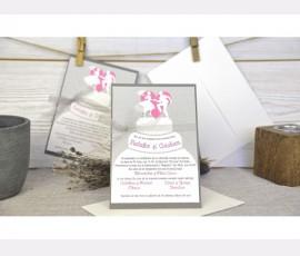 Invitatie wedding cake