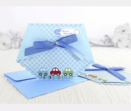 Invitație pampers bleu - Cod 15502