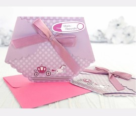 Invitație pampers roz - Cod 15503