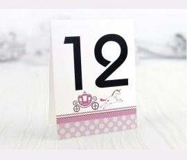 Număr masă pampers roz