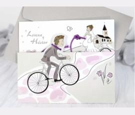 """Invitatie """"bicicleta"""" - Cod 39220"""