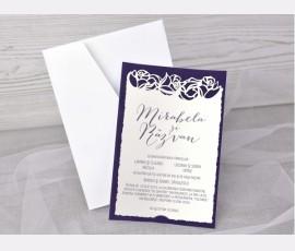 Invitatie de nunta catifea
