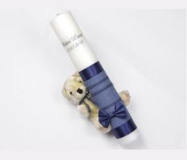 Lumanare stalp ursulet bleumarin - Cod 504