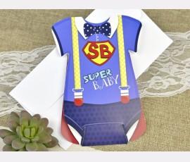 Invitatie de botez super bebe - Cod 15609