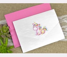 Invitatie de botez unicorn - Cod 15611