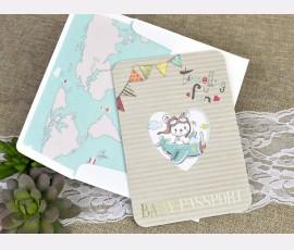 Invitatie de botez pasaport - Cod 15605