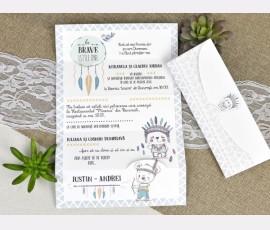 Invitatie de botez indieni - Cod 15610