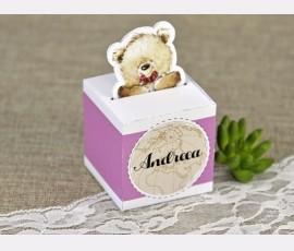 Marturie cutiuta ursulet roz