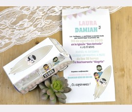 Invitatie de nunta rulota - Cod 39603