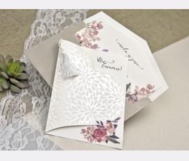Invitatie de nunta inima - Cod 39612