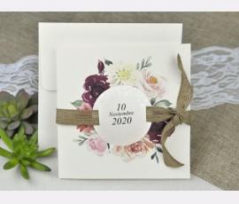 Invitatie de nunta cu flori
