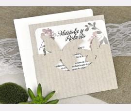 Invitatie de nunta fluturi