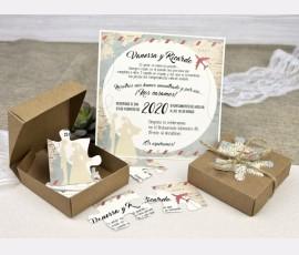 Invitatie de nunta puzzle - Cod 39639