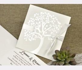 Invitatie de nunta copacul iubirii - Cod 39642