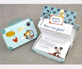 Invitatie de botez Mickey Travel - Cod 15700
