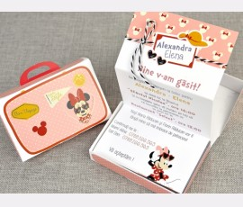 Invitatie de botez Minnie Travel - Cod 15701