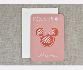 Invitatie de botez Pasaport Minnie - Cod 15706