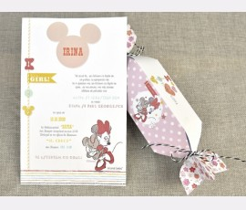 Invitatie de botez Candy Minnie