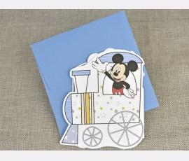 Invitatie de botez Trenulet Mickey