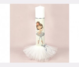 Lumanare botez pastel Pretty Balerina White