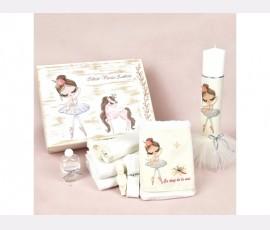 Trusou botez pastel Pretty Balerina White