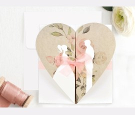 Invitatie de nunta Inima 39705 - Cod 39705