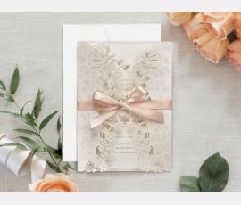 Invitatie de nunta decupaj Laser 39707 - Cod 39707