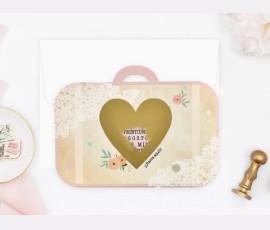 Invitatie de nunta Valiza Vintage 39710 - Cod 39710