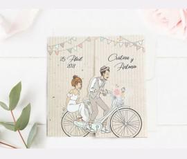 Invitatie de nunta Bicicleta Familiei 39714 - Cod 39714