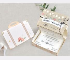 Invitatie de nunta Valiza 39719 - Cod 39719