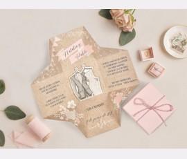 Invitatie de nunta cutie 39720 - Cod 39720