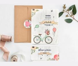 Invitatie de nunta Bicicleta 39737