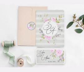 Invitatie de nunta motive florale 39740
