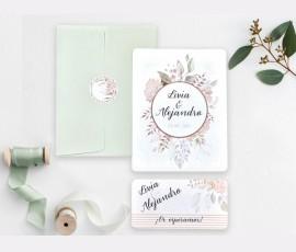 Invitatie de nunta flori si frunze 39742