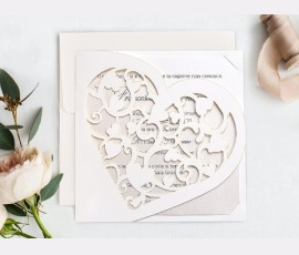 Invitatie de nunta Inima 39748