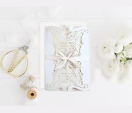 Invitatie de nunta decupaj Laser Mint 39746-4
